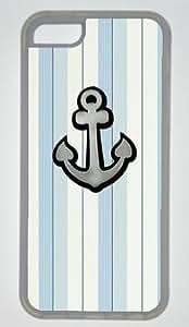 Anchor On Light Color Stripe DIY Rubber Transparent iphone 5C Case On Custom Service hjbrhga1544