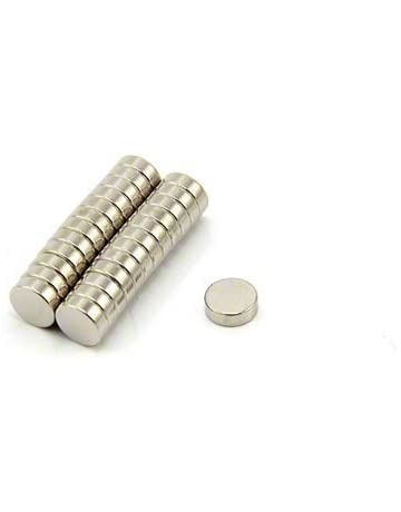 Pack of 10 0.35kg Pull Small Neodymium Craft Magnet 3 x 3 x 8mm 45H