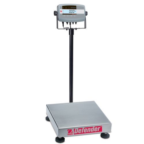 Square Base Scale Bench (Ohaus Defender ABS/304 Stainless Steel NTEP Certified Bench Scale, 10000g x 1g)