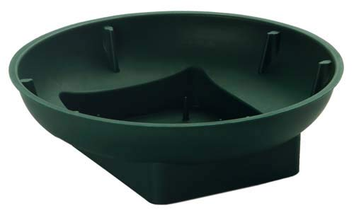 Pack of 10 Round Floral Bowls With Square Bases (Dark Green). Floral Arrangements / Wedding Displays by Gem Supplies UK