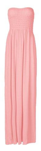 Fast Fashion - Plaine Boobtube Elastique Cisaillement Arc Maxi - Femme (36/38, Bébé Rose)
