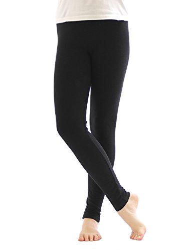 Legging Thermique Leggings Pantalon long en coton Polaire chaud épais doux - Noir, 38