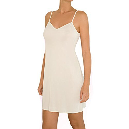 Anemone Women's Non-Cling Silky Smooth Full Slip - Ivory - Small