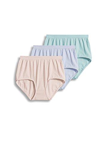 Jockey Women's Underwear Comfies Cotton Brief - 3 Pack, Soft Periwinkle, 10
