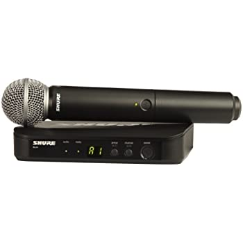 shure blx24 sm58 wireless vocal system with sm58 handheld microphone h8 musical. Black Bedroom Furniture Sets. Home Design Ideas