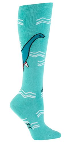 Sockness Monster Womens Knee High Tube Socks Blue Sz 5 10