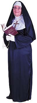 Size 24w Halloween Costumes (Nun Plus Size (Plus Size) One Size Fits Most 16W to 24W)