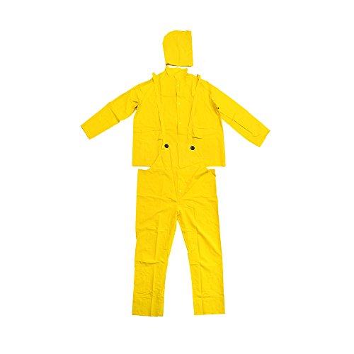 Falcon 201-350M Premium 3-Piece Rain-Suit, Rain-Coat, Rain-Jacket, Size Med M (5 Pack)