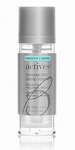 Brocato Actives Enhancing Shine Serum: Anti Frizz Smoothing Treatment for Damaged Hair - Leave In Product with Natural Oil to Repair / Control Dry, Frizzy Locks from Straightening and Hot Tools - 1 Oz