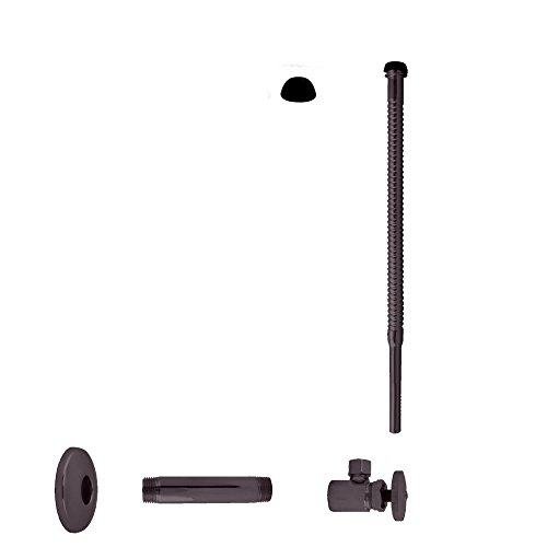 Oil Rubbed Bronze Pipe Nipple - Westbrass D103K12-12 Supply Kit 1/2