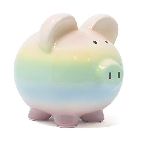 Child to Cherish Ceramic Rainbow Ombre Piggy Bank for ()