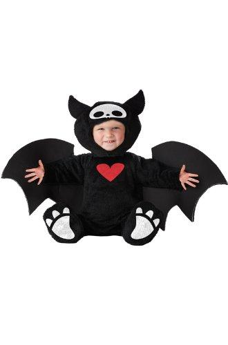 California Costumes Infant Skelanimals Diego The Bat Costume, Black/White/Red, 12-18 Months