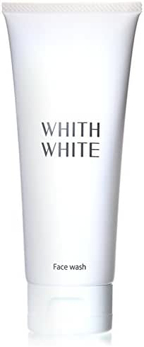 WHITH WHITE Whitening Foam Face Wash Cleanser, Made in Japan 日本, Cleans blackheads Pore Cloggings darkness, Reduces Spots blotchiness darkness, 3.5oz(100g)