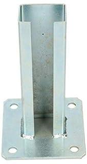 Soporte de base atornillable para postes de valla, 60 x 40 mm, con rejilla: Amazon.es: Jardín