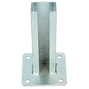 KOTARBAU® Supporto per pali 60 x 40 mm per recinzioni travi in legno zincato Presa di Terra Manicotto di ancoraggio… 31dLVMNFslL. SS300