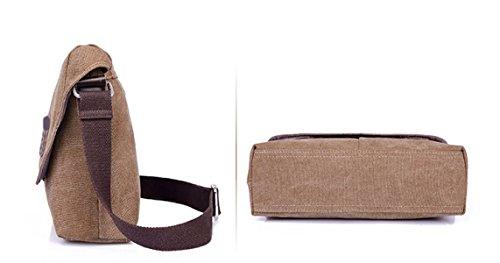 Männer Vintage-Leinwand Messenger Aktentasche Schulter Tote Sling Multifunktions Tasche,A-OneSize
