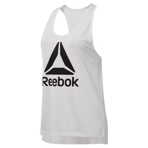 Reebok Workout Ready Supremium 2.0 Big Logo Tank, White, -