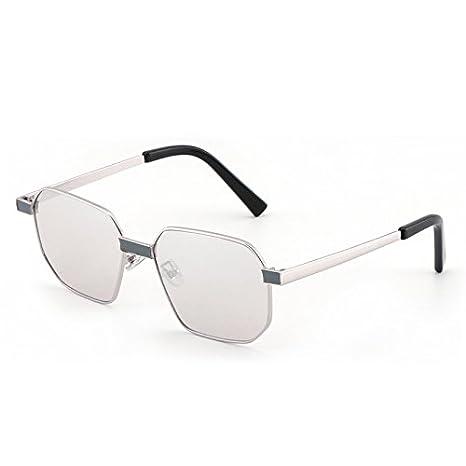 VVIIYJ Gafas de sol cuadradas Polígono femenino Espejo Gafas ...