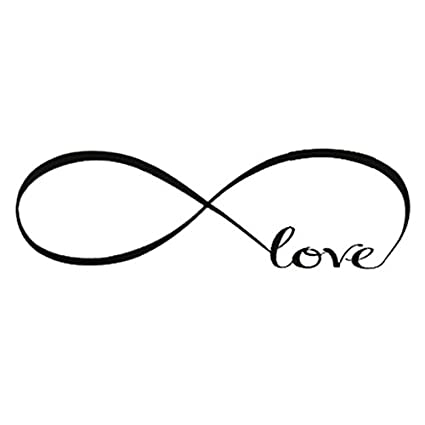 Amazon Sodial Wall Decal Of Love Personalized Infinity Symbol