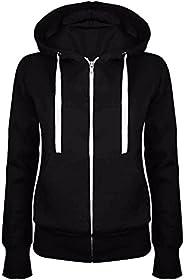 SineMine Women's Full Zip Hoodie Jacket Casual Long Sleeve Fleece Hoodies Sweatshirt Running Workout Jacke