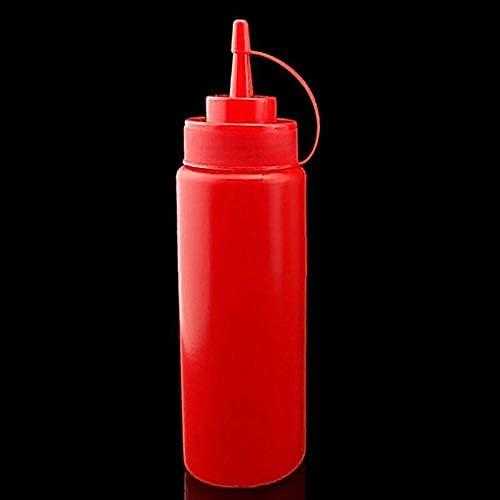 JIALI - Botella de plástico con tapa para ketchup, mostaza ...
