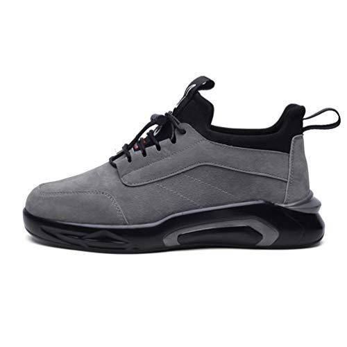 Calzado Zapatillas Moda Running Senderismo Transpirable Casual Casuales Lona Encaje Gris Zapatos Entrenadores Outdoor Hombres Ligero HARqx0w