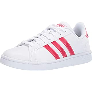 adidas Grand Court White/Active Pink/White 8.5