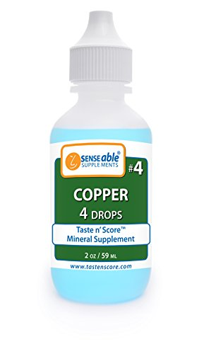 Taste N' Score | Copper | Liquid Mineral Supplement & Assessment Kit | Easy to Mix into Drinks & Smoothies | 100% Pure Minerals, No Preservatives | 2 oz