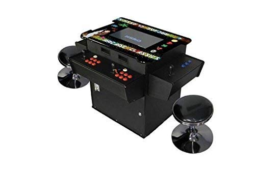 Cocktail Arcade Machine 1030 Games in 1 3 Sided Control Panel Includes 2 Benches