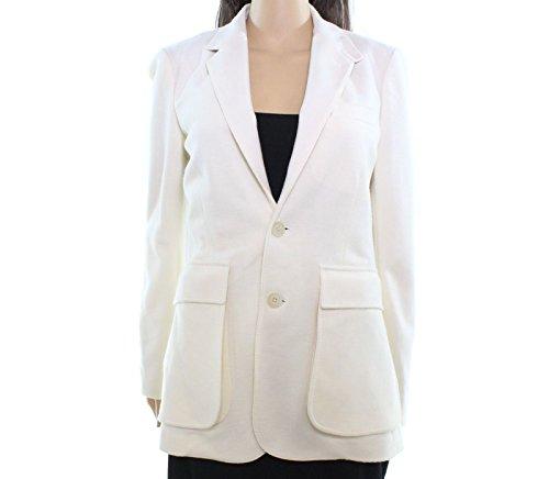 Ivory Blend Jacket Wool (Polo Ralph Lauren Women's Wool Blend Blazer White Ivory 8)