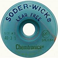 Lead-Free Solder-Wick Desoldering Braid - Size No.2 - 0.060In x 5 Feet-by-Chemtronics by Chemtronics