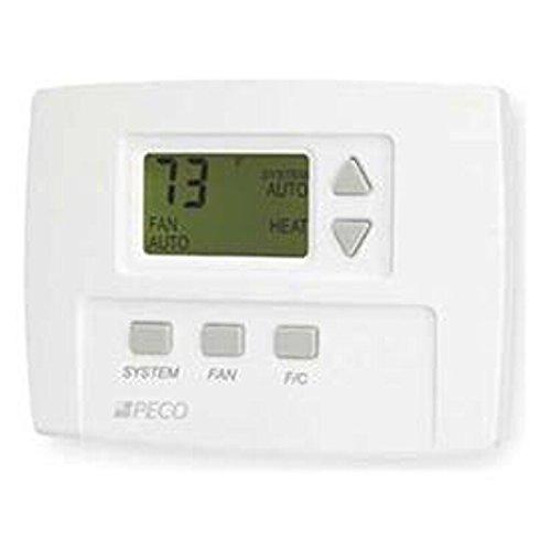 Peco TA170-001 3 Speed Non-Programmable Thermostat, 1H/1C, White by PECO  B00RGFZNPO