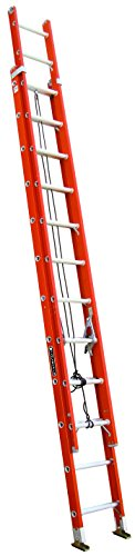 Louisville Ladder FE3224 Fiberglass Extension Ladder 300-Pound Capacity, 24-Feet (24' Residential Ladder)
