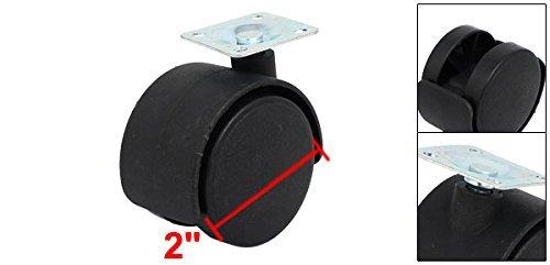 eDealMax 2 pulgadas de diámetro Superior giratoria Doble placa de la ...