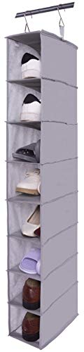 Amborido 8 Shelf Hanging Shoe Organizer for Closet Non Woven Fabric - Organizer 8 Shelf Hanging