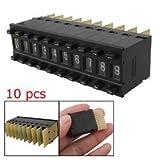 10 Pcs Single Unit Pushwheel Thumbwheel Switch KM1 0-9