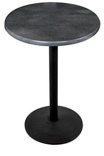 (Holland Bar Stool Co. OD2142242B30RBlkStl Enduro Top Indoor/Oudoor Table, Black Steel)