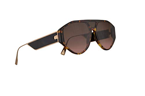 Christian Dior DiorClan1 Sunglasses Dark Havana w/Black Brown Green Lens 51mm 08686 Clan1 Christian Dior Brown Havana Sunglasses