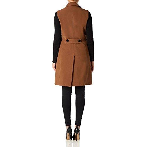De Sin Mangas La cadera chaqueta Verano primavera americana Crème Toffee hasta mujer wXqXdI4xr