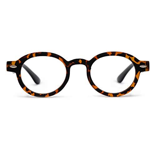 (OCCI CHIARI Reading Glasses Readers Women Men Prescription Eyeglasses Computer Eyewear Round(100 125 150 175 200 225 250 275 300 350) Demi 1.00)