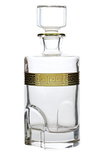 Versace Greek Key Inspired 24 OZ Liquor Decater Gold (Imported Vodka)