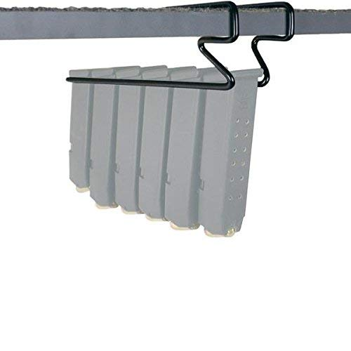 Gun Storage Solutions Shelf Kickstands & Holders - Gun Rack, Organize Your Safe and Displays. Works for Pistols and Handguns .22 Cal and Larger (Magazine Rack)