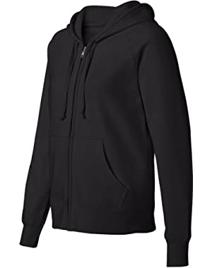 Hanes Women's Raglan Sleeves Full-Zippered Cotton Hoody