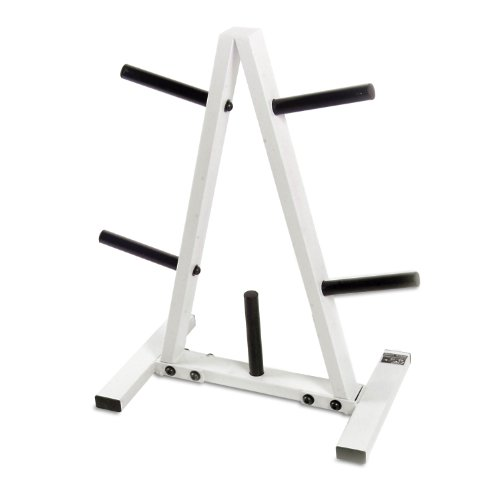 CAP Barbell Standard Plate Rack, Black and White, 1'' by CAP Barbell