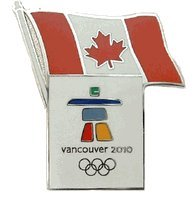 2010 Olympic Pins Vancouver (Vancouver 2010 Olympics - Canada Flag Pin)