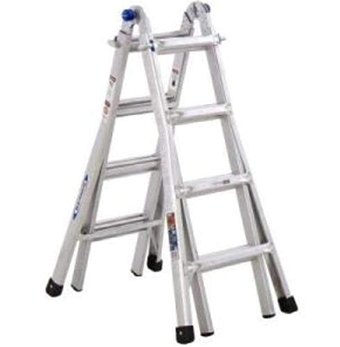 17 Foot Type 1A Multi-task Ladder 23 Configurations; Super Strong Aircraft Grade Aluminum Supports up to 300 Lbs.