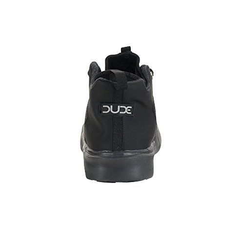 Dude Shoes Männer Auris Wolle Schwarz Mat Hartplatz Boot Schwarz