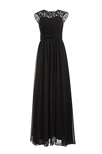 Ssyiz - Vestido - plisado - Sin mangas - para mujer negro