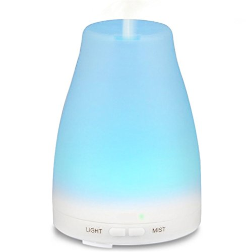 Corelink 100ML Ultrasonic Aromatherapy Essential Oil Diffuser Cool Mist Aroma Humidifier w Color LED Lights Changing for Home, Yoga, Office, Spa, Bedroom, Baby Room