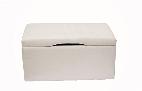 Crew Furniture 991740 Beau Storage Bench Toy Box Moonbeam - Childrens Upholstered Storage Bench